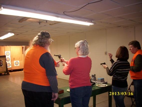 2013 women's handgun class - shooting