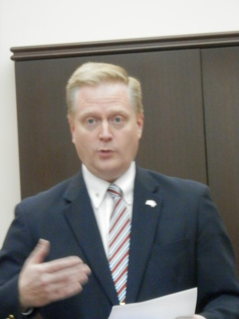 Rep Fred Keller, 85th District spoke on Right to Work legislation.