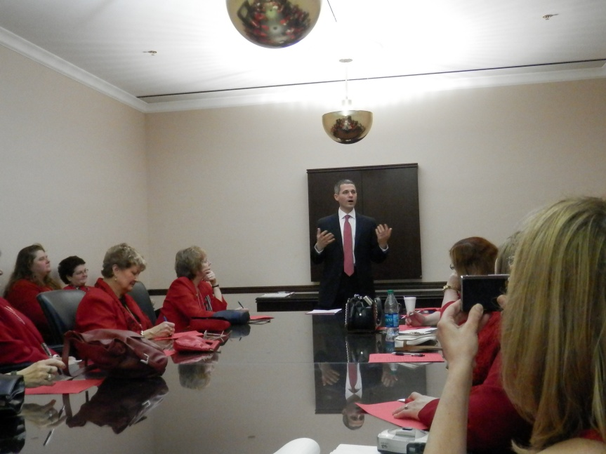 Rep Rob Kauffman addresses small games of chance with the ladies.