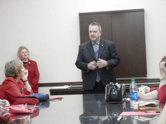 Rep Daryl Metcalfe spoke the on right to work, second amendment rights, the budget, and voter id.