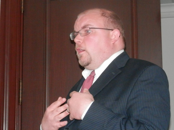 Matt Wagner, from Right to Work spoke to the group regarding the legislation and how to make a difference.