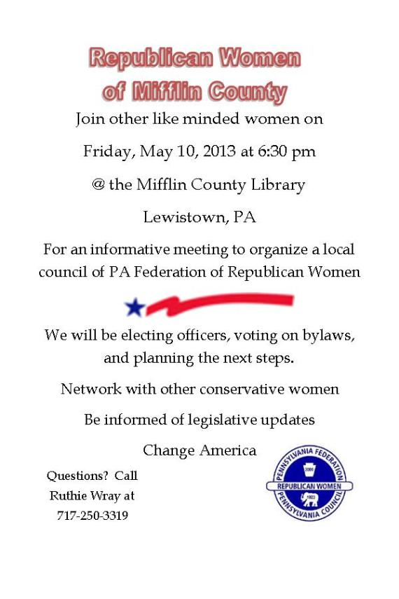 Mifflin County Rep Women