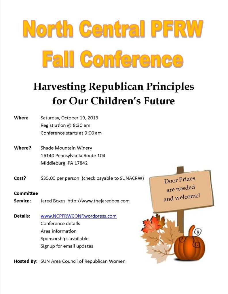 PFRW Fall Conf - 2013