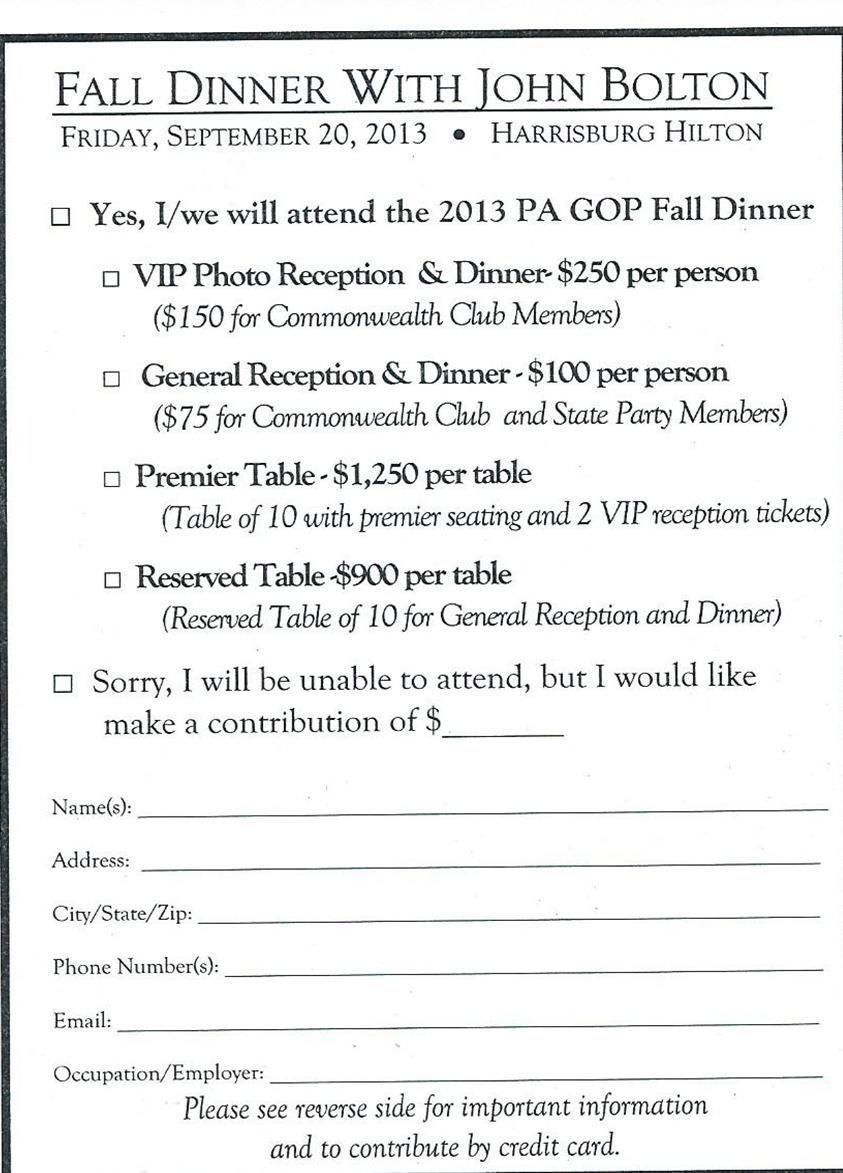 PA GOP Fall 2013 - 2