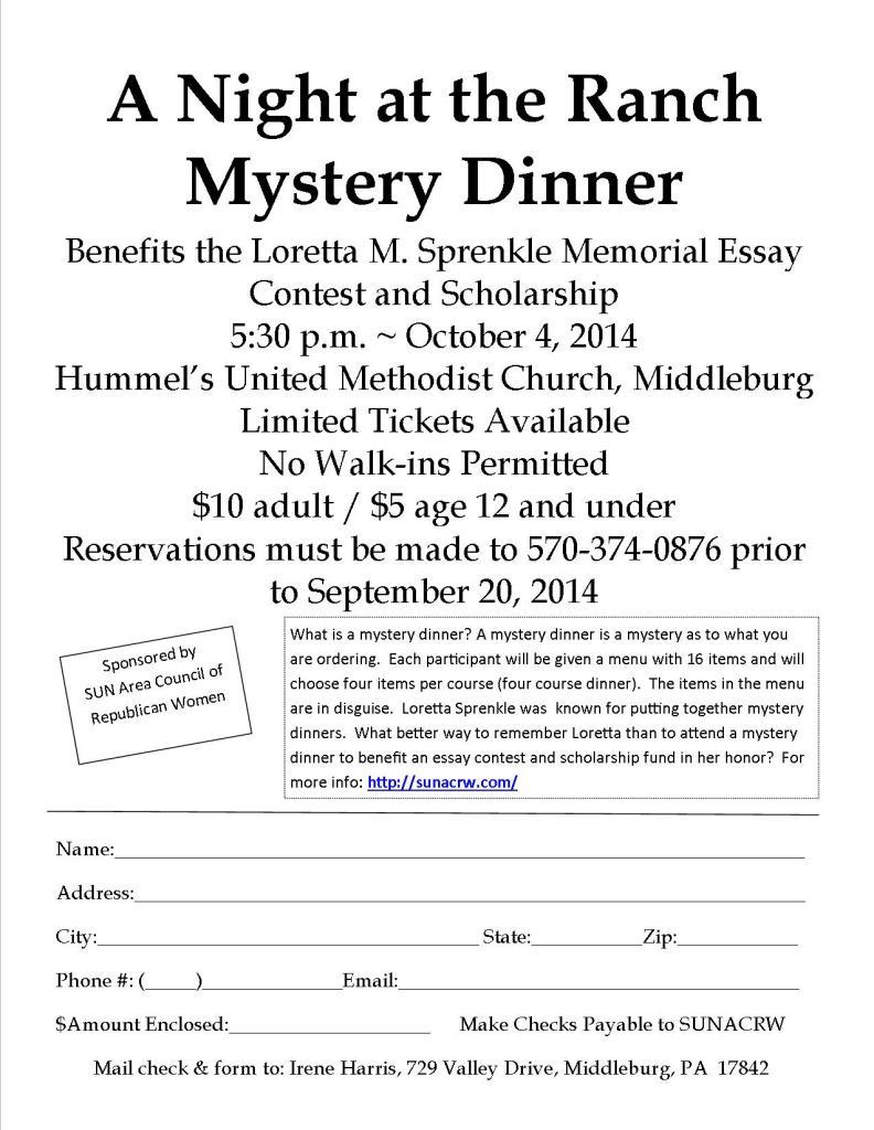10.2014 Mystery Dinner Flyer 2