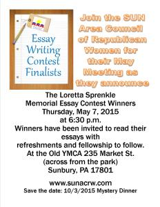 Essay Winners Flyer