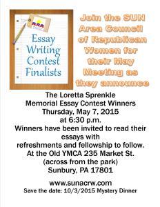 Essay Winners Flyer