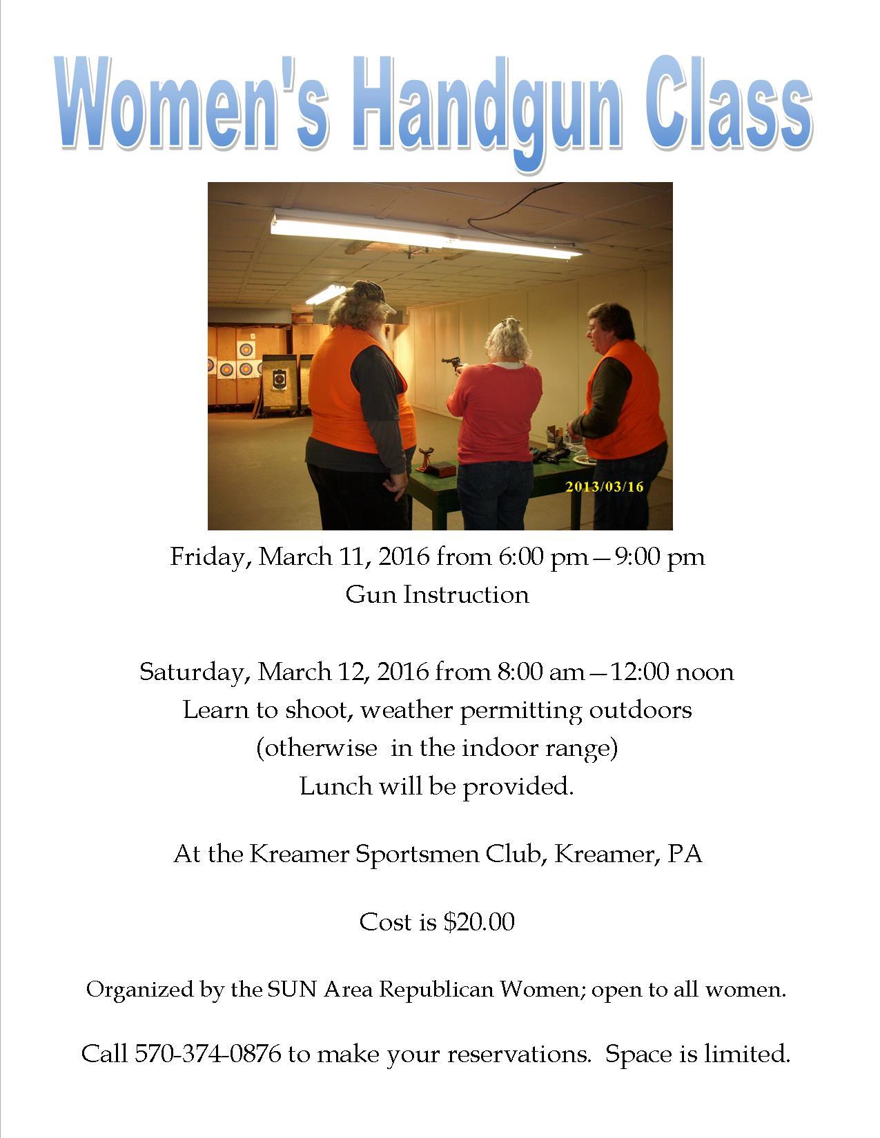 Women's Handgun Class (March 11 & 12, 2016)