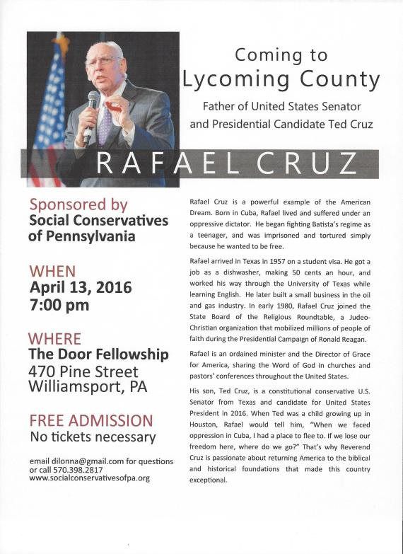 04.13.2016 Rafael Cruz (Williamsport)